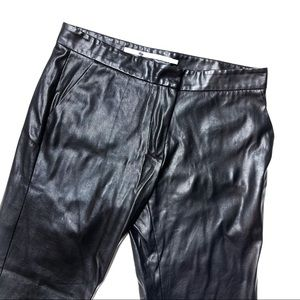 Cynthia Vincent Black Faux Leather Skinny Jeans
